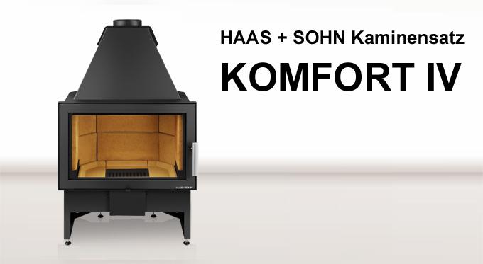 Haas + Sohn Kamineinsatz Komfort IV