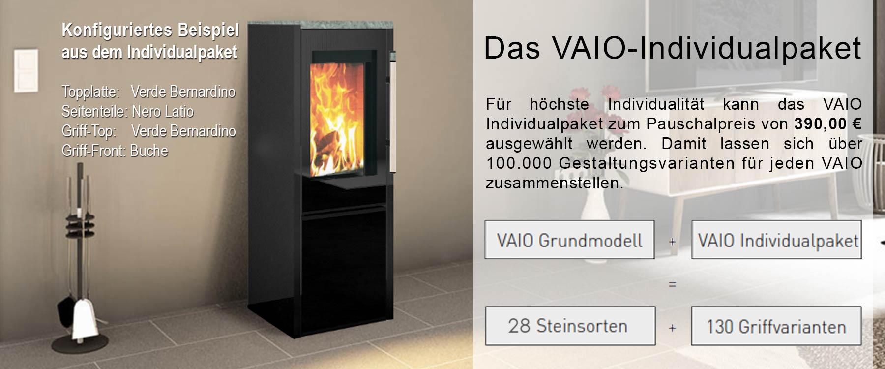 Ambientebild mit einem konfigurierten Vaio 2 Ofen im Individualpaket