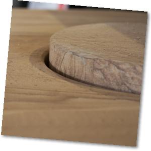 Nahaufnahme Sandsteinverkleidung