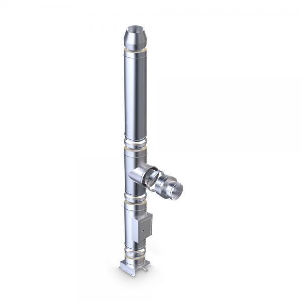 Edelstahlschornstein Bausatz doppelwandig 150 mm Glänzend