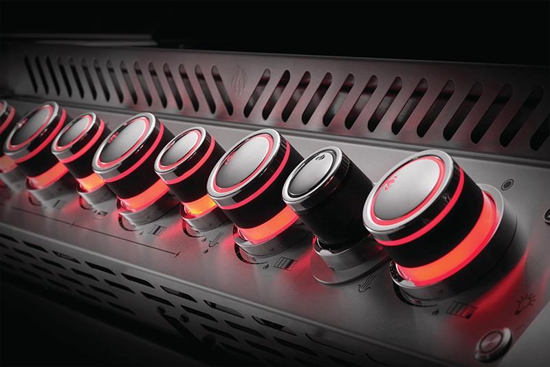 Drehregler rot leuchtend