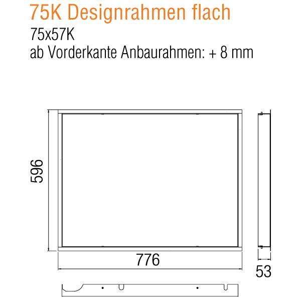 Kamineinsatz Austroflamm 75x57 K 2.0 Designrahmen