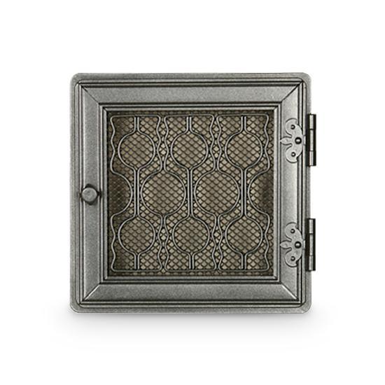 Stil Kamin Kaltluftgitter 24 x 24 cm Graphit Ofen Gitter