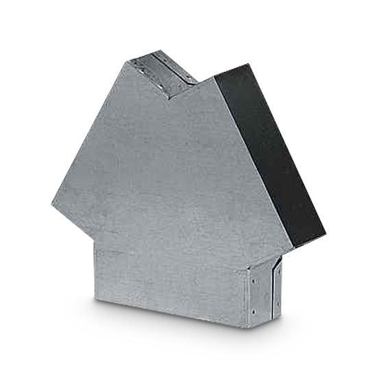 T-Stück Schacht AA-Kaminwelt 150 mm x 50 mm 120°