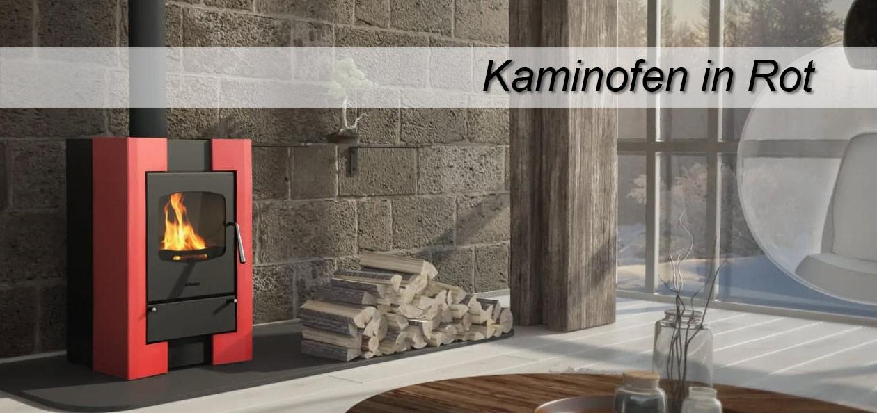 Kaminofen HS Flamingo Espo I in rot