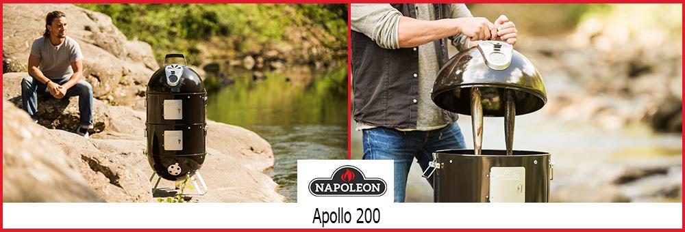 Der Grill Apollo 200 lässt sich als Kugel-, Holzkohlegrill oder auch als Smoker verwenden und zählt daher zu den beliebtesten 3in1 Grill-Modellen.