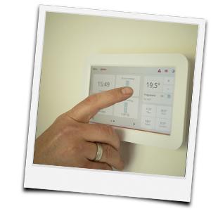 Temperatur am Thermostat einstellen