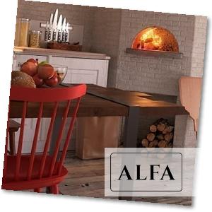 Pizzaofen in Küchenwand integriert