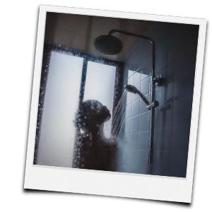 warme Dusche