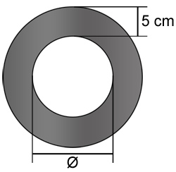Ofenrohr Rosette 150 mm Gussgrau Rauchrohr