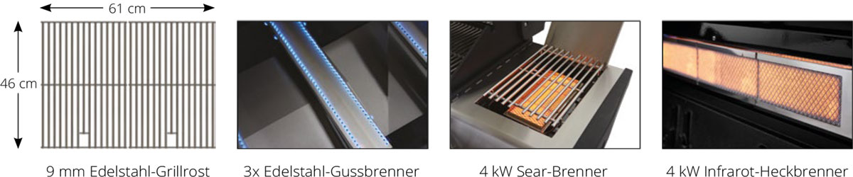 Gasgrill Broilchef Paramount BC-430BBS Details