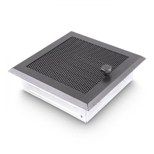 Warmluftgitter AA-Kaminwelt 19x19 cm Grau