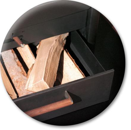 Produktdetailansicht mit Fokus auf Holzlade