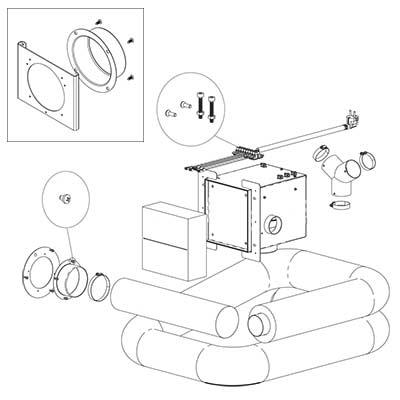 Edilkamin Kit Air Diffuser Bausatz