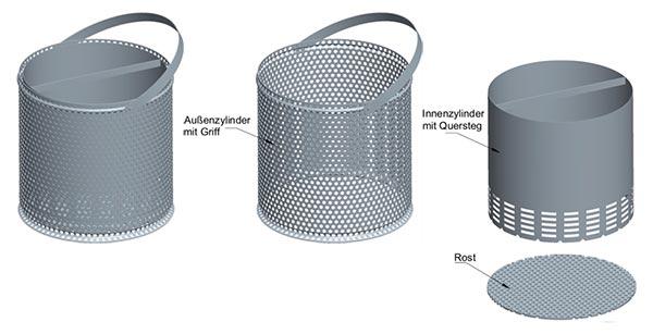 Pelletbrenner Bestandteile