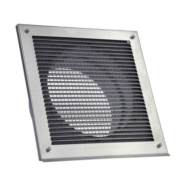 CB-Tec Außenluftgitter 2.0 mit Stutzen Edelstahl 23x23 cm