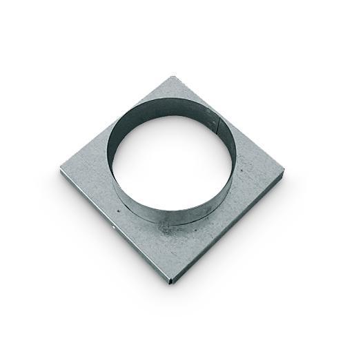 Stutzenblech für Warm Kalt und Außen Luftgitter 16x16 cm DN 120 mm