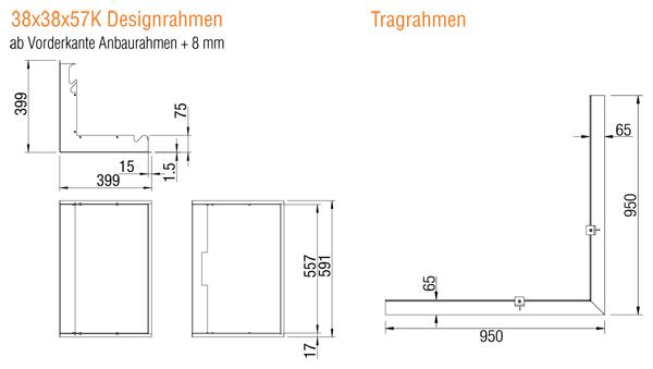 Kamineinsatz Austroflamm 38x38 K 2.0 Eck Zubehör