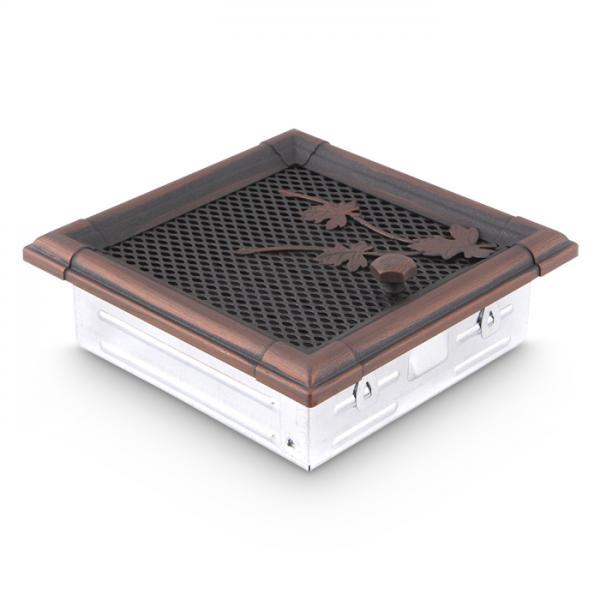 Warmluftgitter 19x19 cm Kamin Lüftungsgitter Ofen Gitter Kupfer Patina