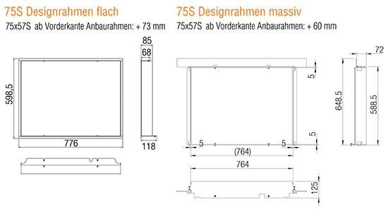 Kamineinsatz Austroflamm 75x57 S 2.0 Designrahmen