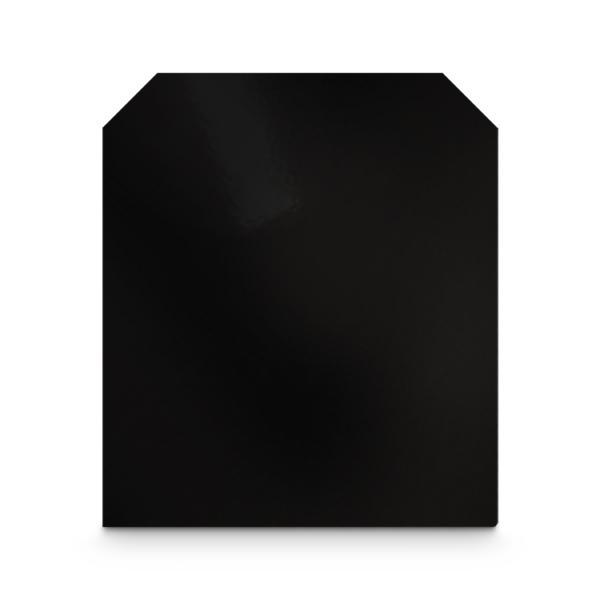 Stahl Bodenplatte Schwarz Zunge Eckig Funkenschutz Platte Kamin Ofen